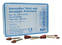 Набор полиров для сплавов identoflex gold / amalgam / precious metal alloys